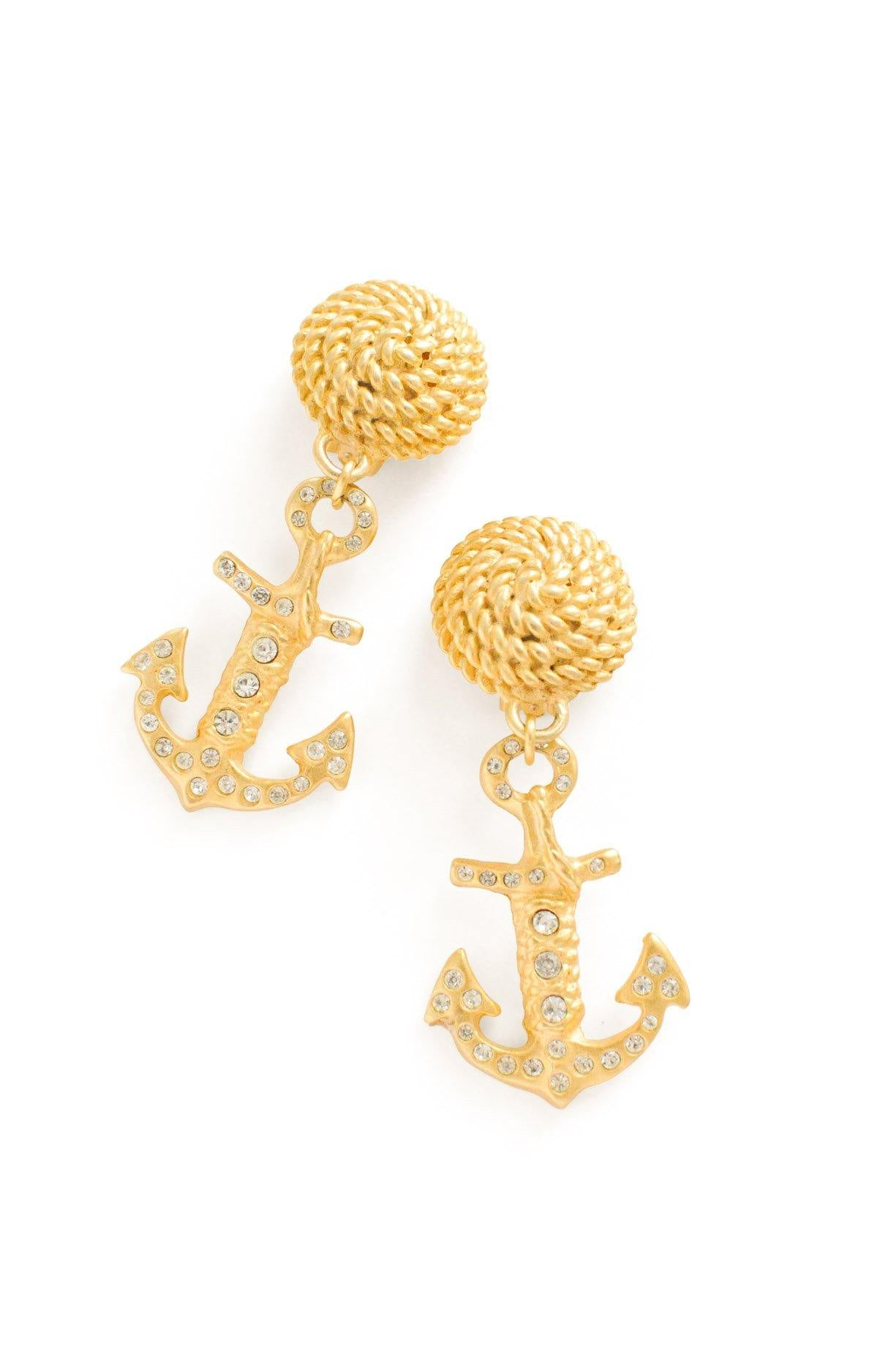 Anchor Statement Clip-on Earrings From Sweet & Spark