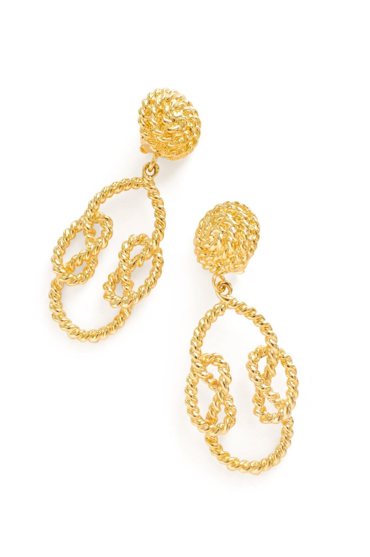 Rope Statement Clip-on Earrings