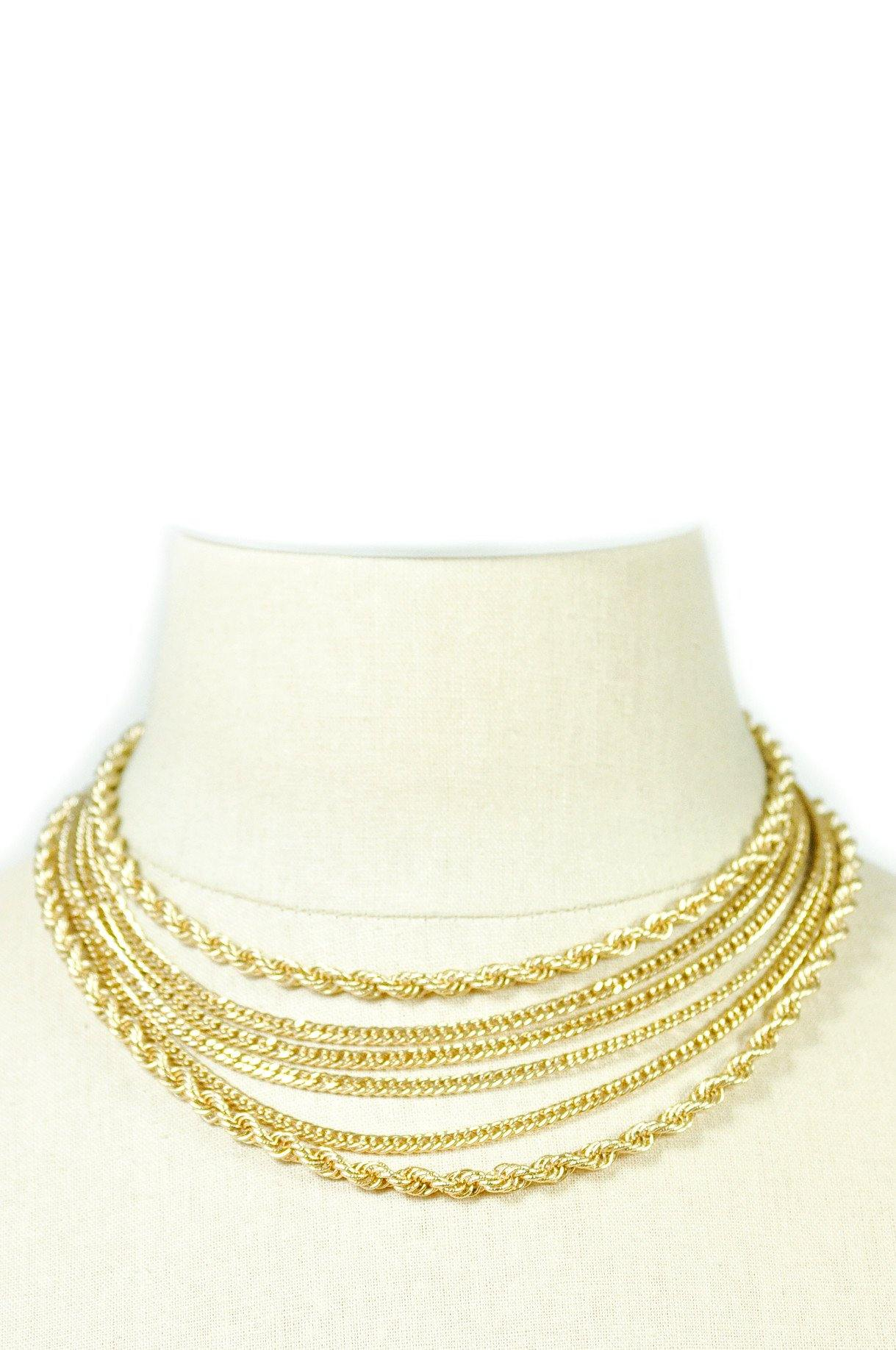 80's__Monet__Multi-Chain Necklace