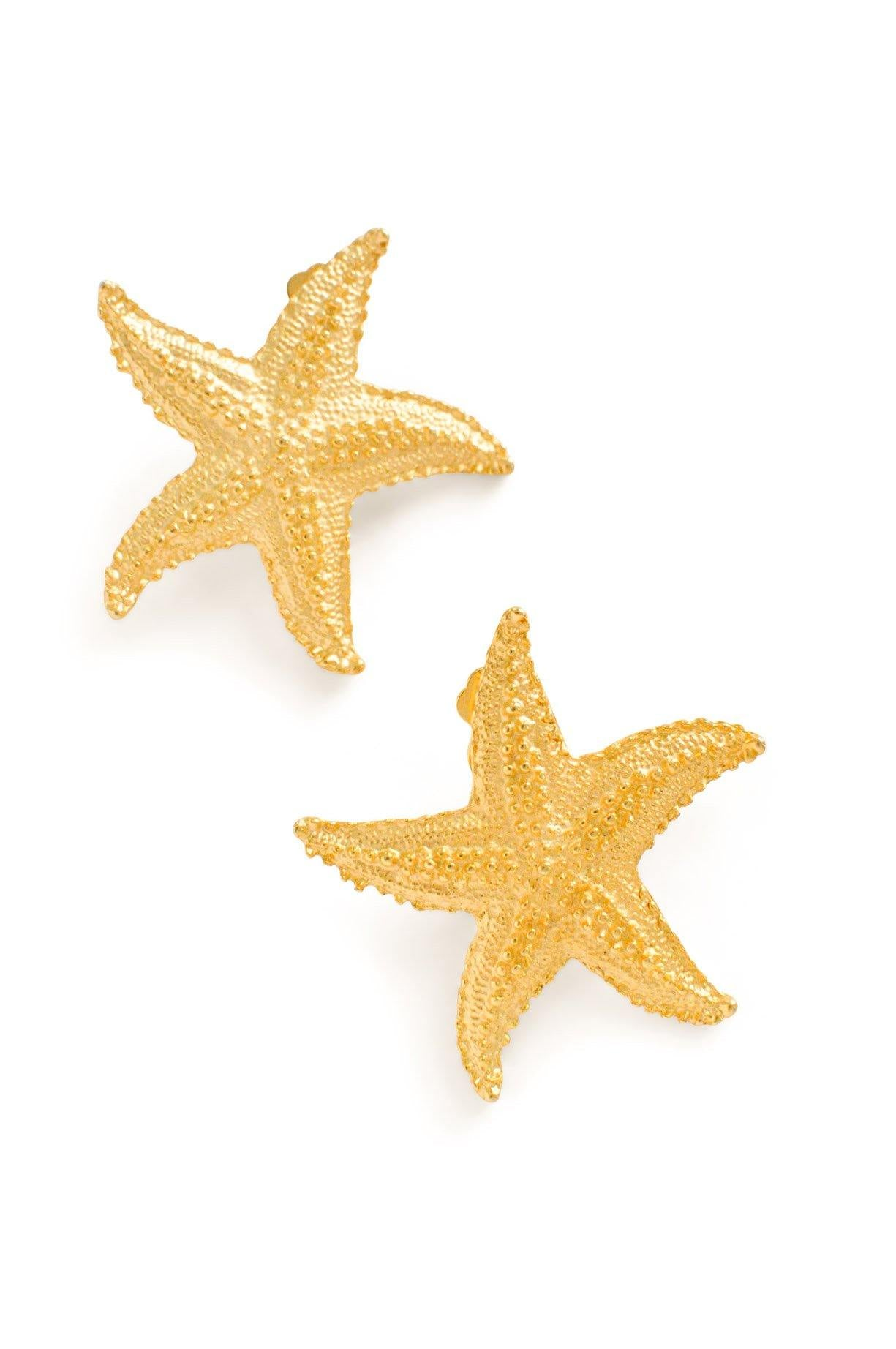 Statement Starfish Clip-on Earrings From Sweet & Spark