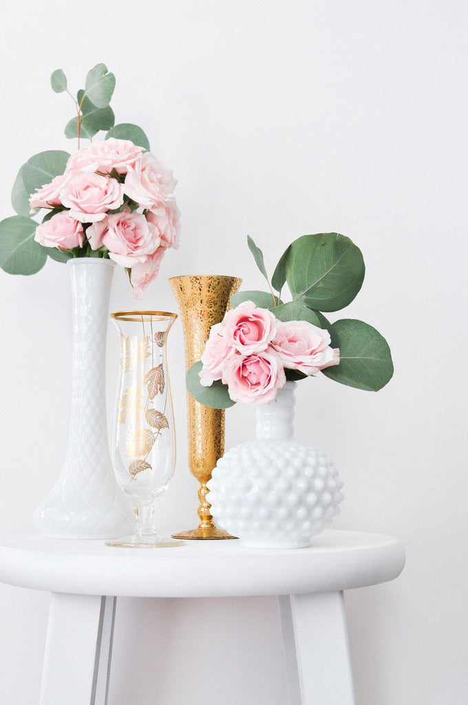 Milk Glass Tulip Vase