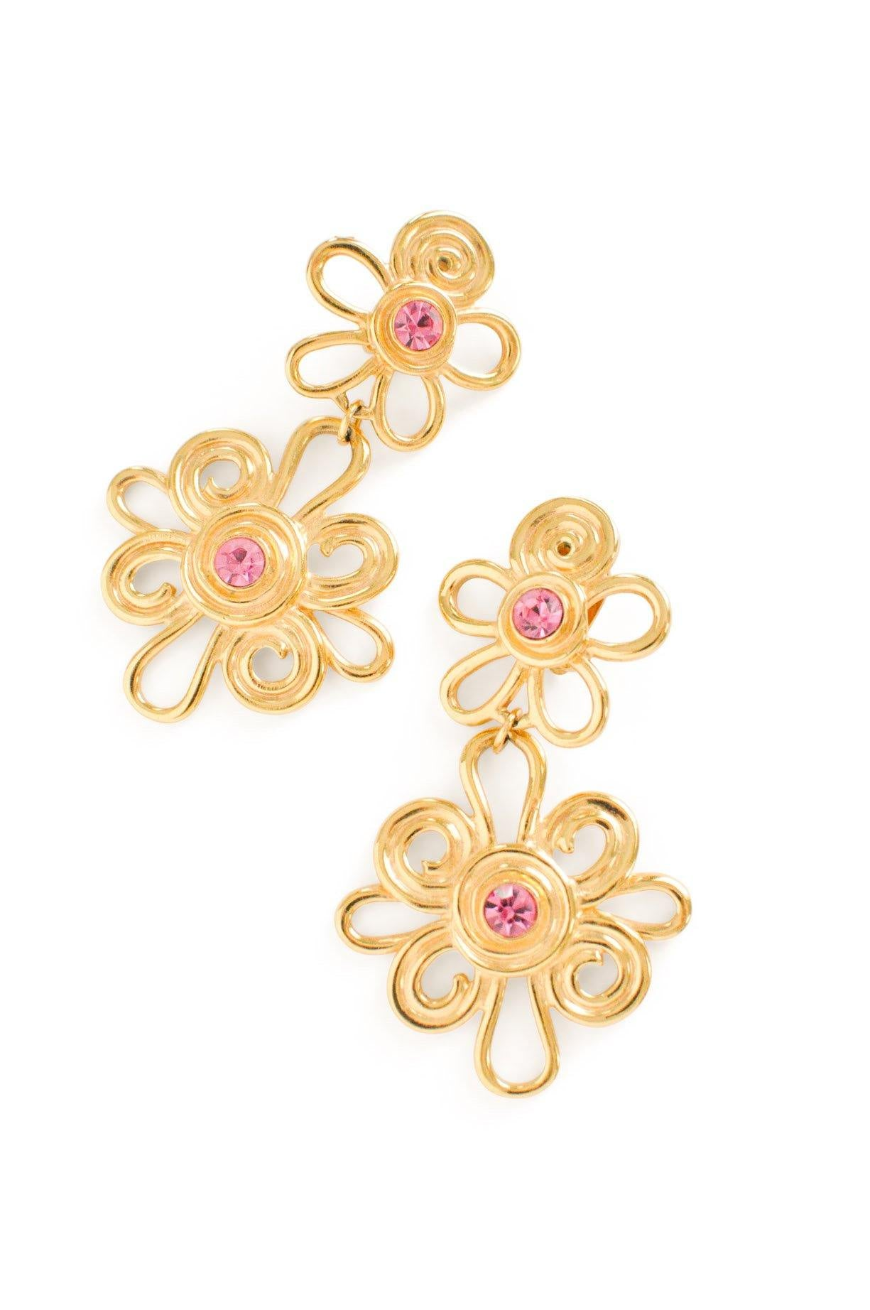 Swirl Floral Clip-on Earrings