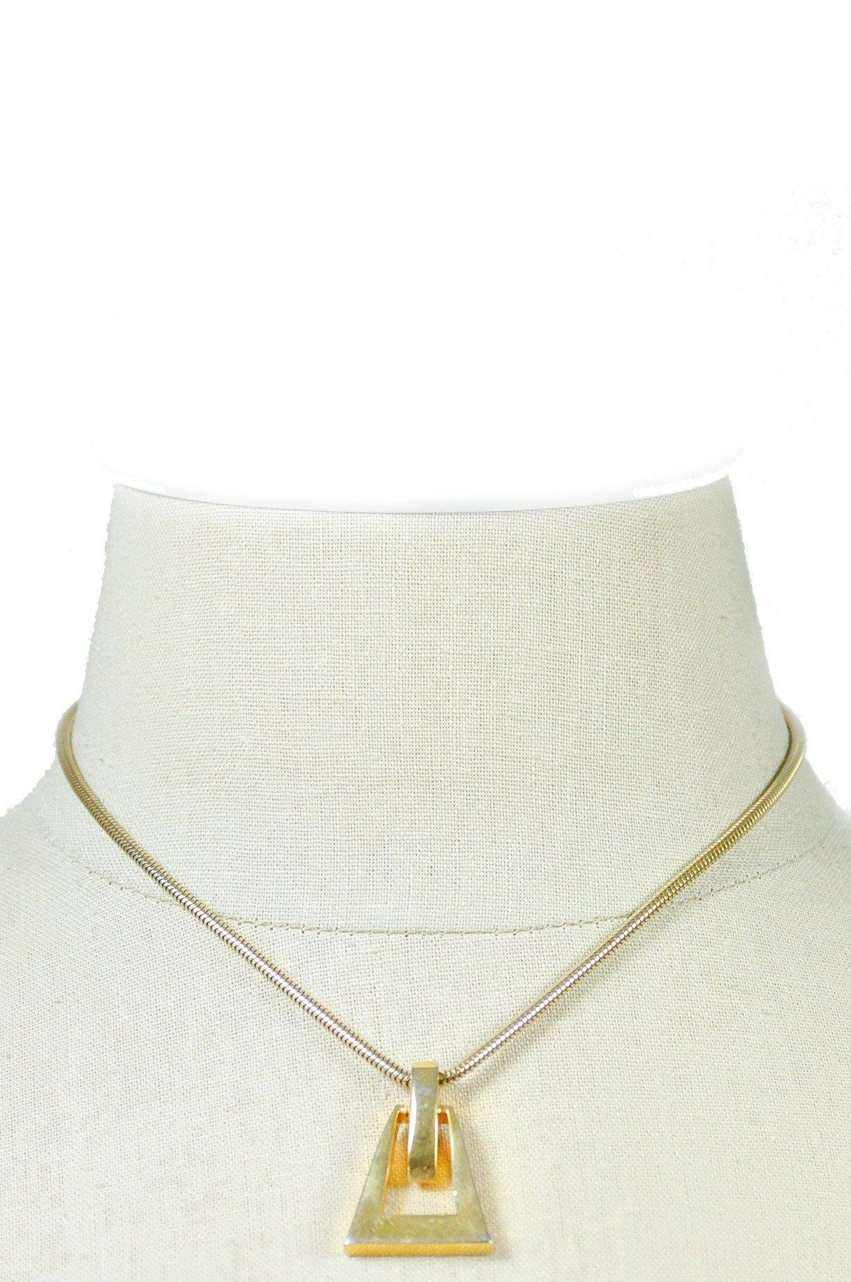 80's__Vintage__Geometric Pendant Necklace