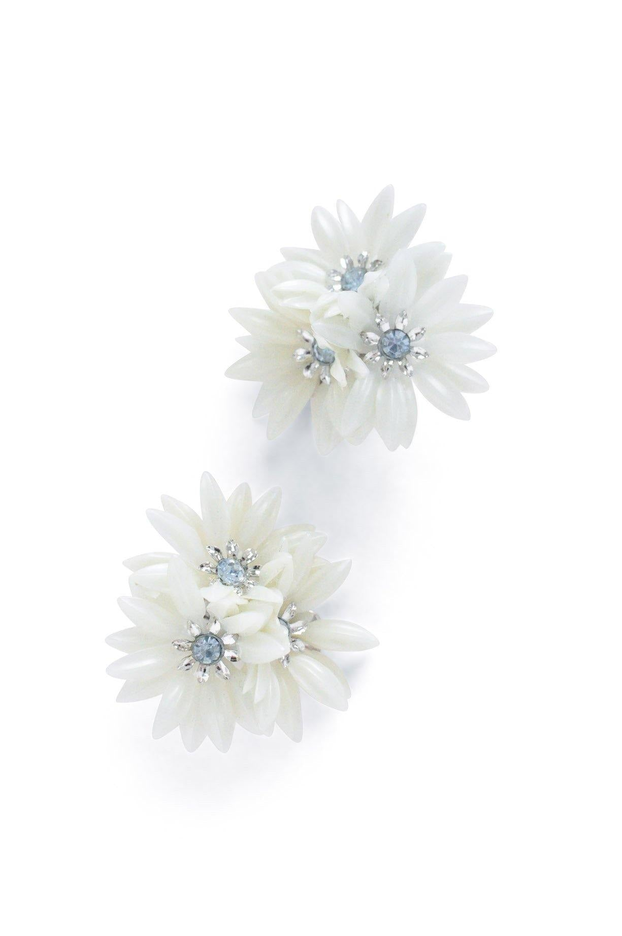 Floral Cluster Clip-on Earrings