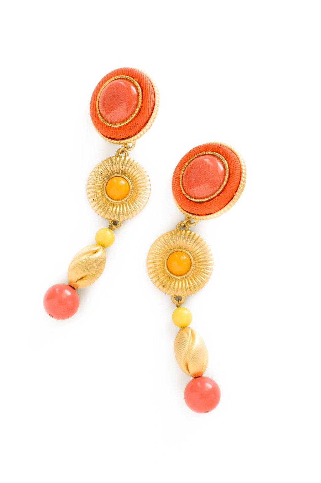 Citrus Statement Clip-on Earrings