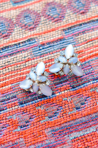 60s__Vintage__Statement Rhinestone Clip-On Earrings