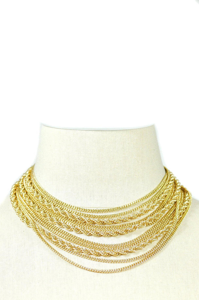 70's__Monet__Multi-Chain Necklace