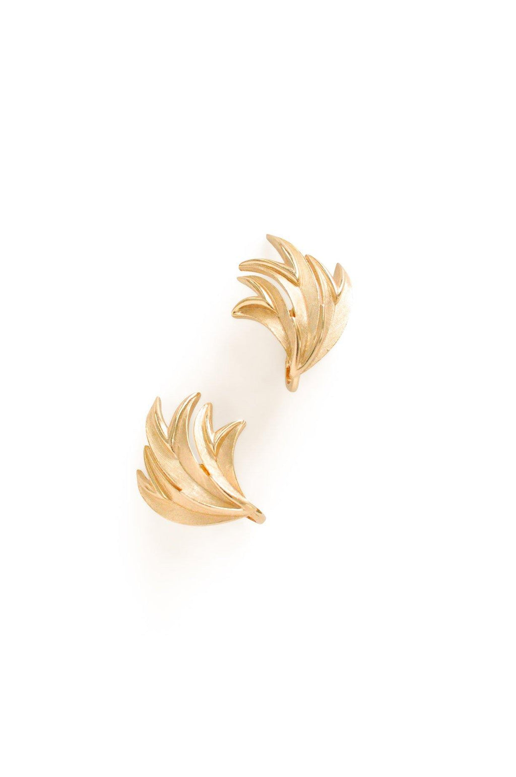 Split Leaf Clip-On Earrings