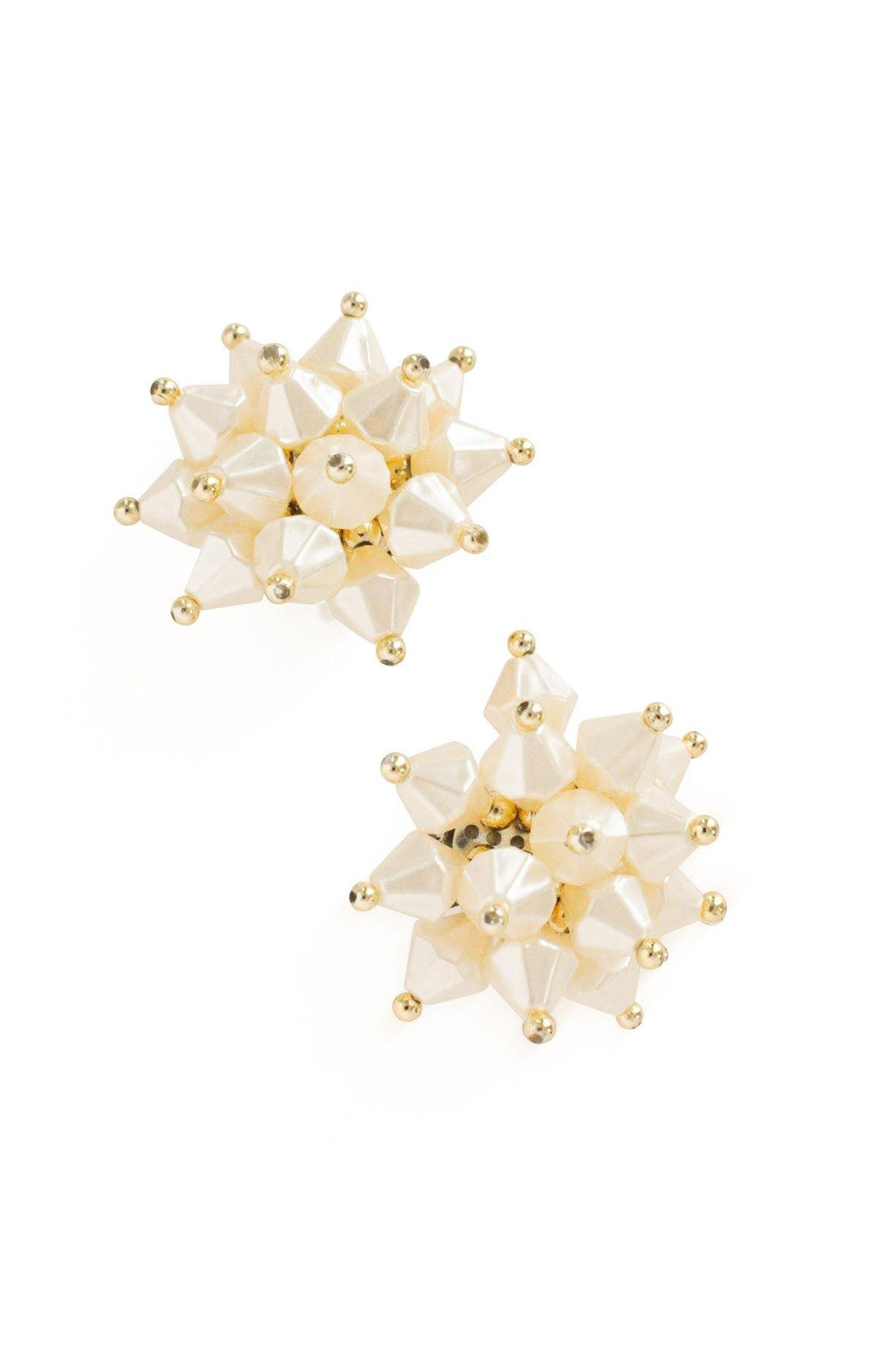 Pearl Burst Clip-on Earrings