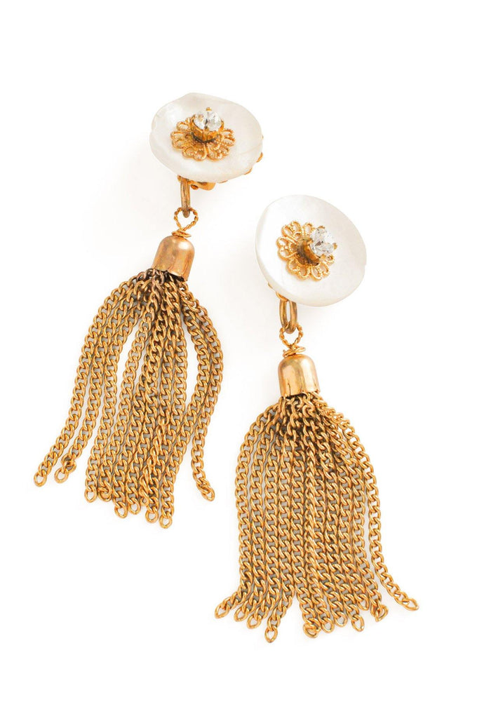 Tassel Statement Clip-on Earrings