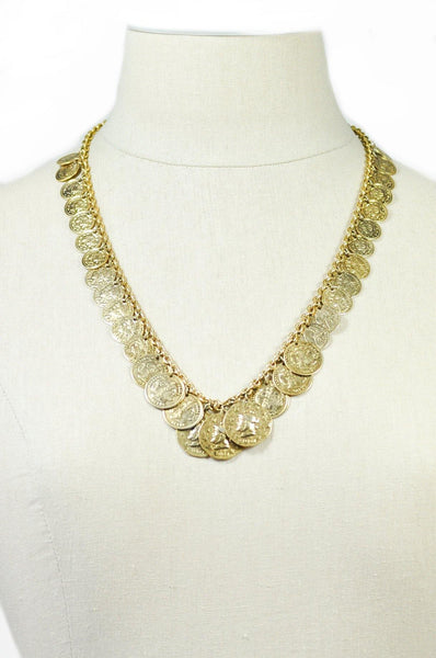 80's__Trifari__Coin Charm Necklace