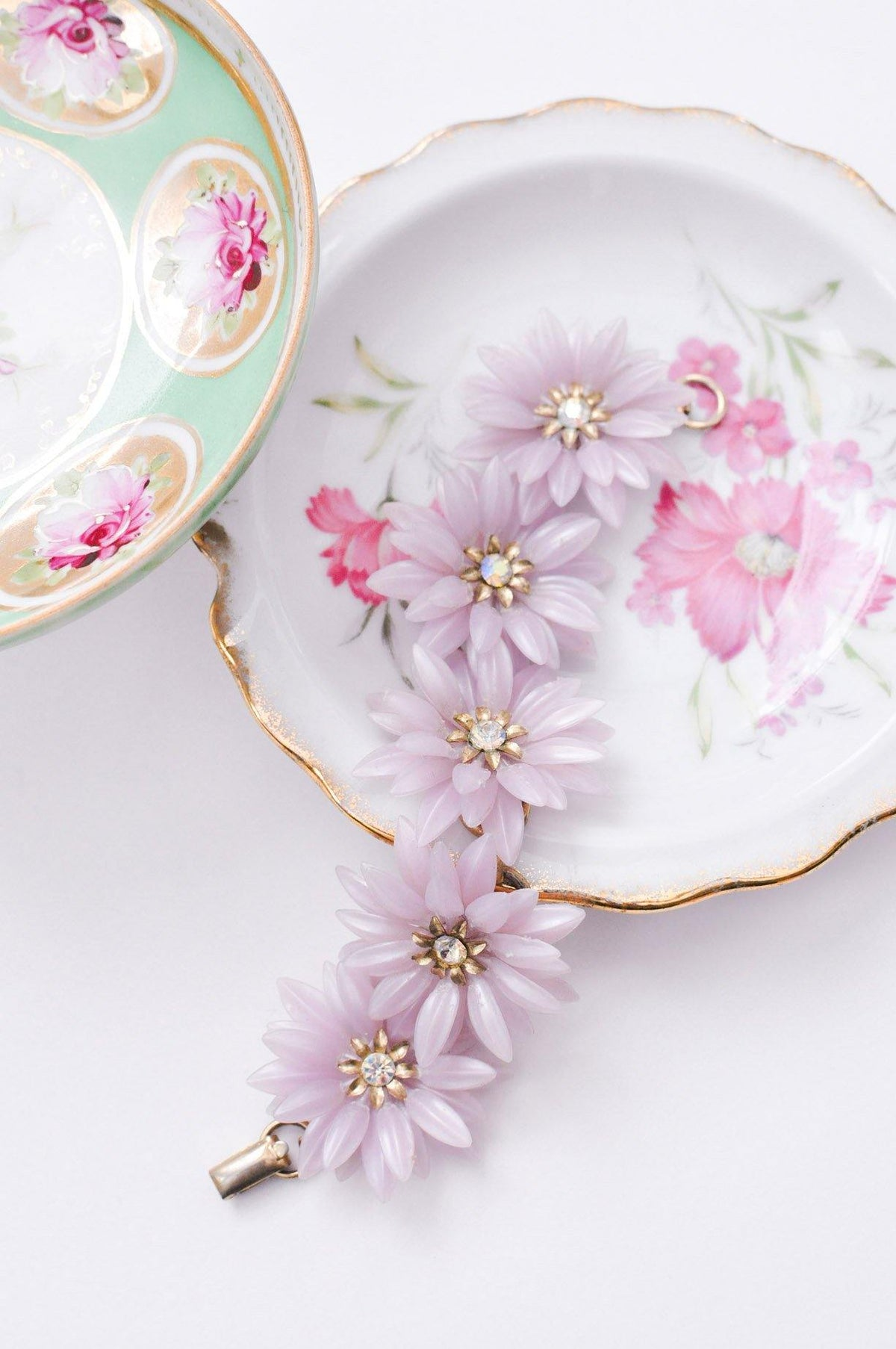 Vintage Coro statement floral bracelet from Sweet & Spark.