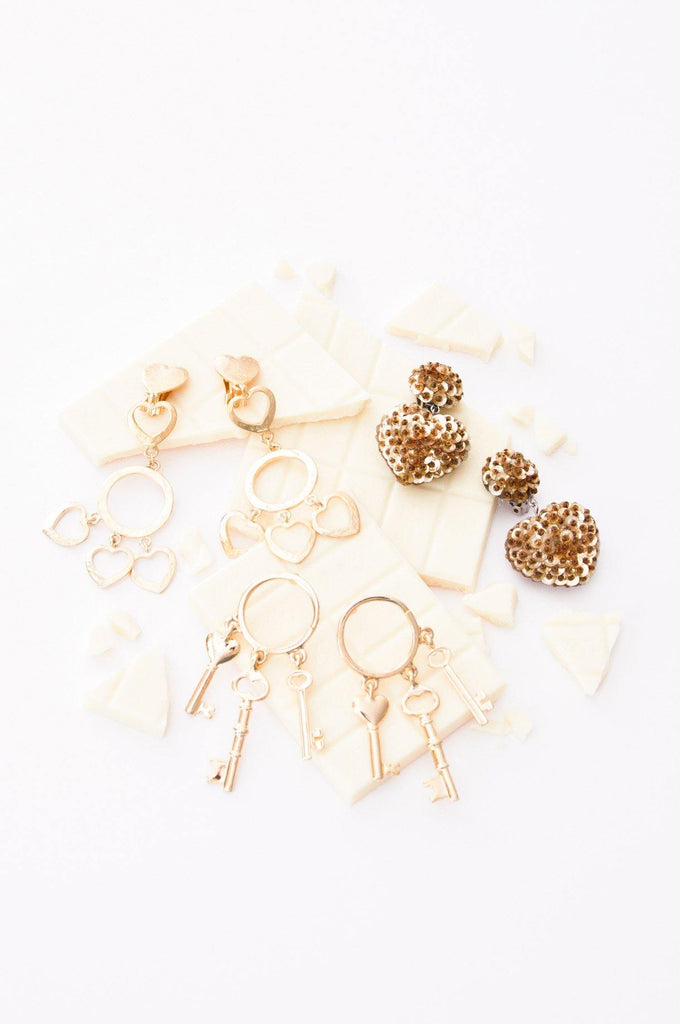 Heart Statement Clip-on Earrings