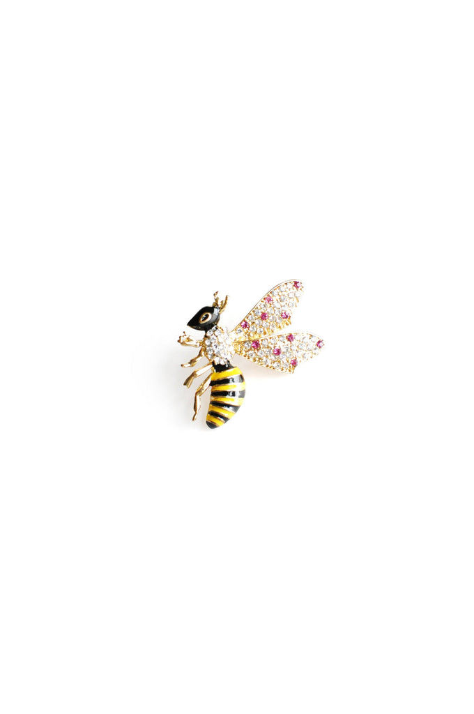 Rhinestone Bee Brooch