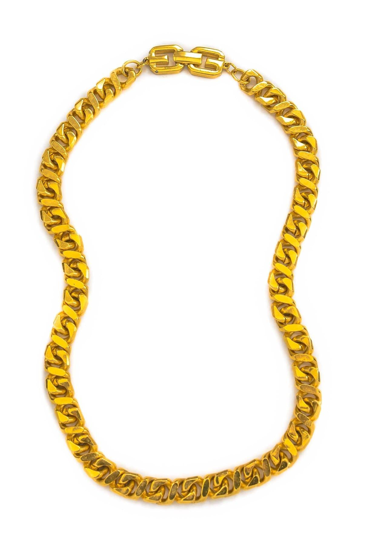 Vintage Givenchy Flat Curb Chain Necklace from Sweet and Spark