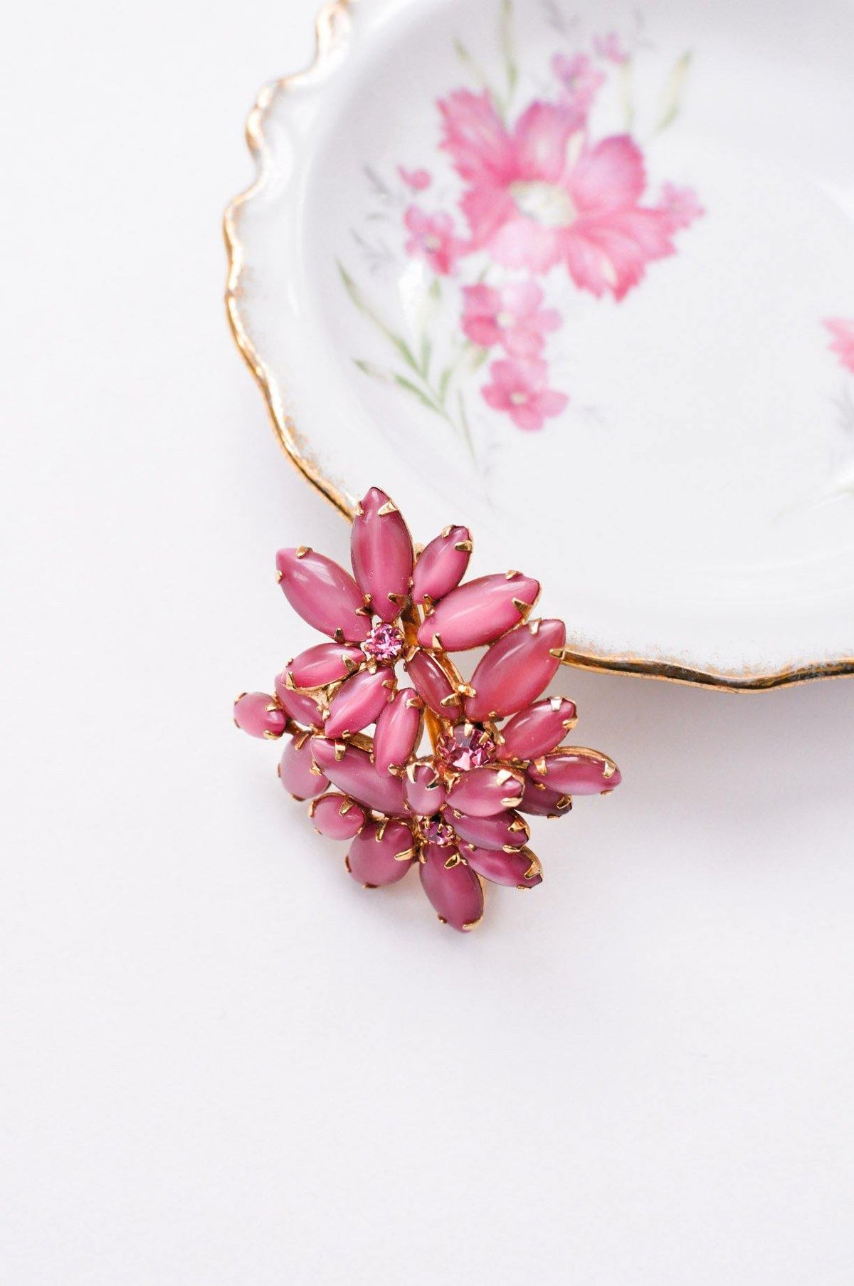Pink Rhinestone Brooch from Sweet & Spark