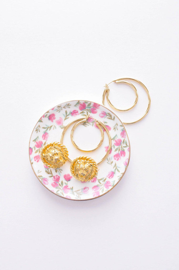 Double Hoop Pierced Earrings