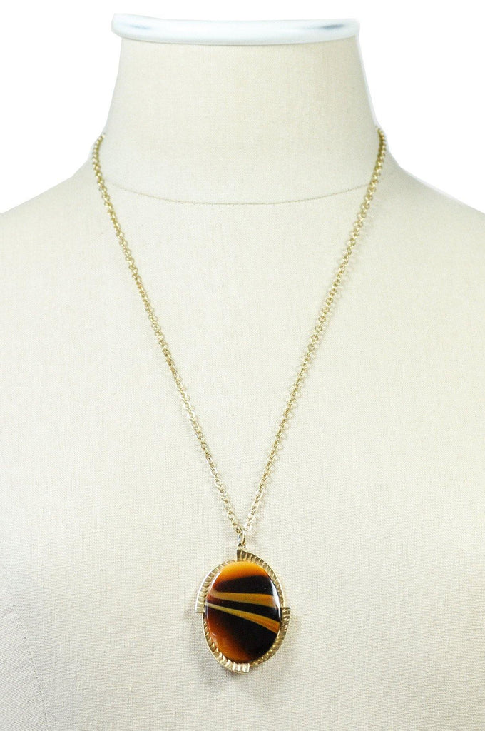 60's__Sarah Coventry__Stone Pendant Necklace