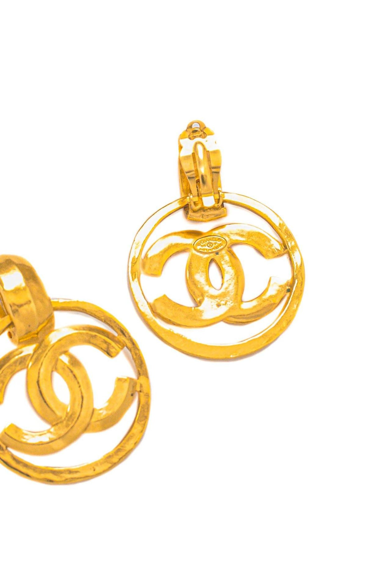 Vintage Chanel CC Drop Clip-on Earrings from Sweet and Spark
