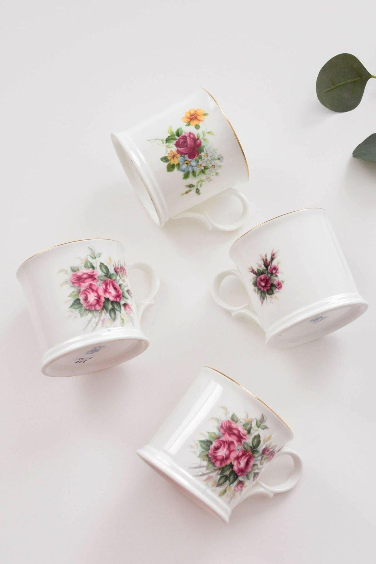Pretty Floral Mug Set of 4 - Sweet & Spark