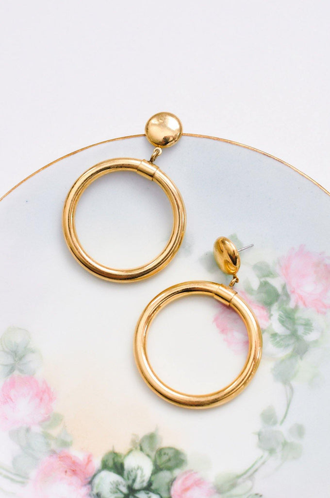 Bold Hoop Pierced Earrings