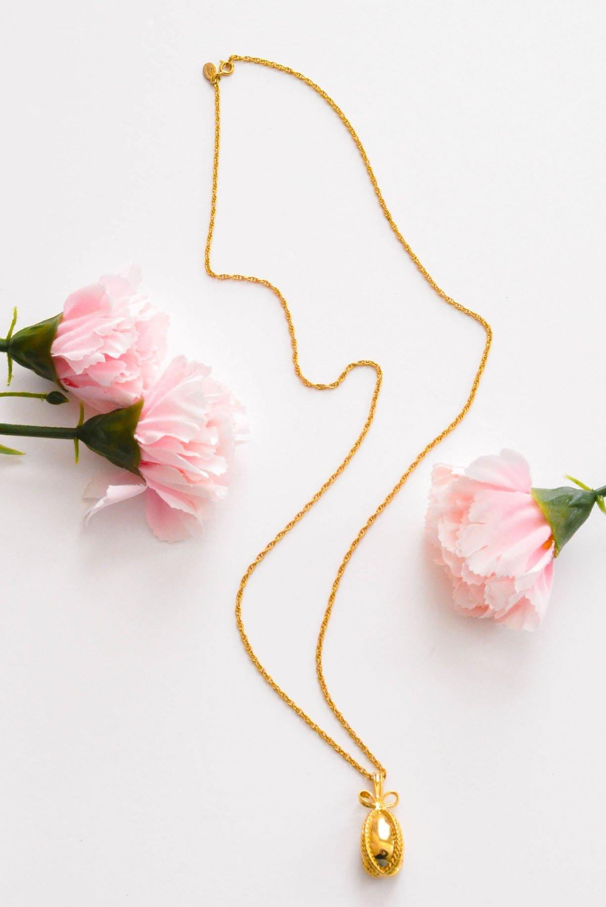 Dainty Egg Drop Necklace - Sweet & Spark