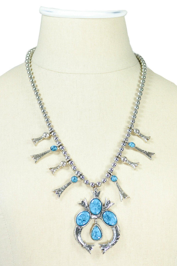 60's__Vintage__Statement Turquoise Necklace