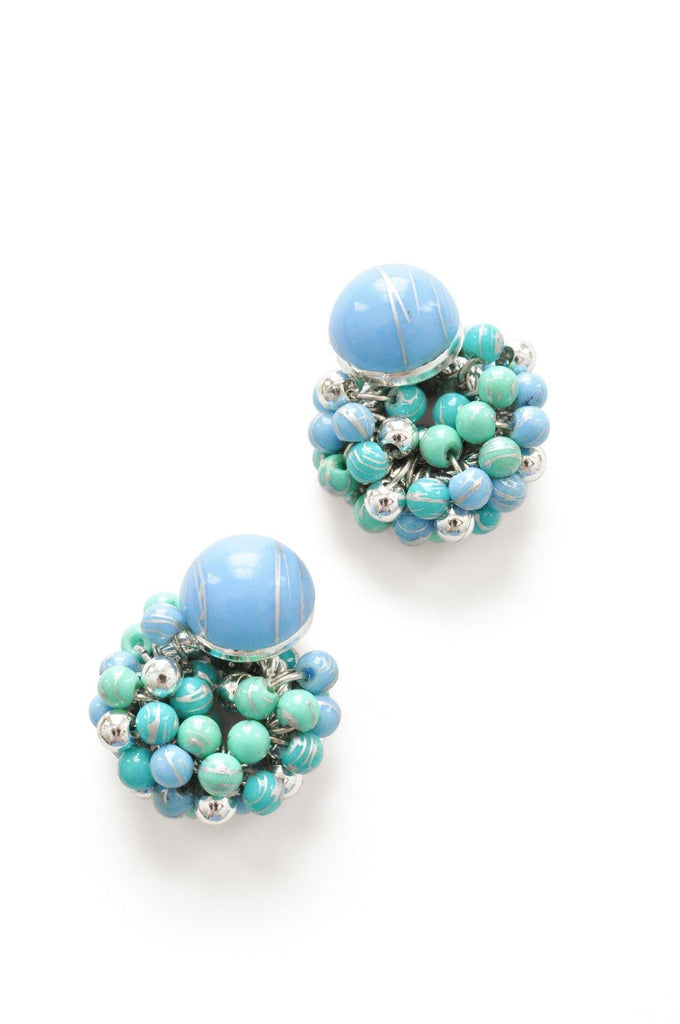 Bead Cluster Clip-On Earrings