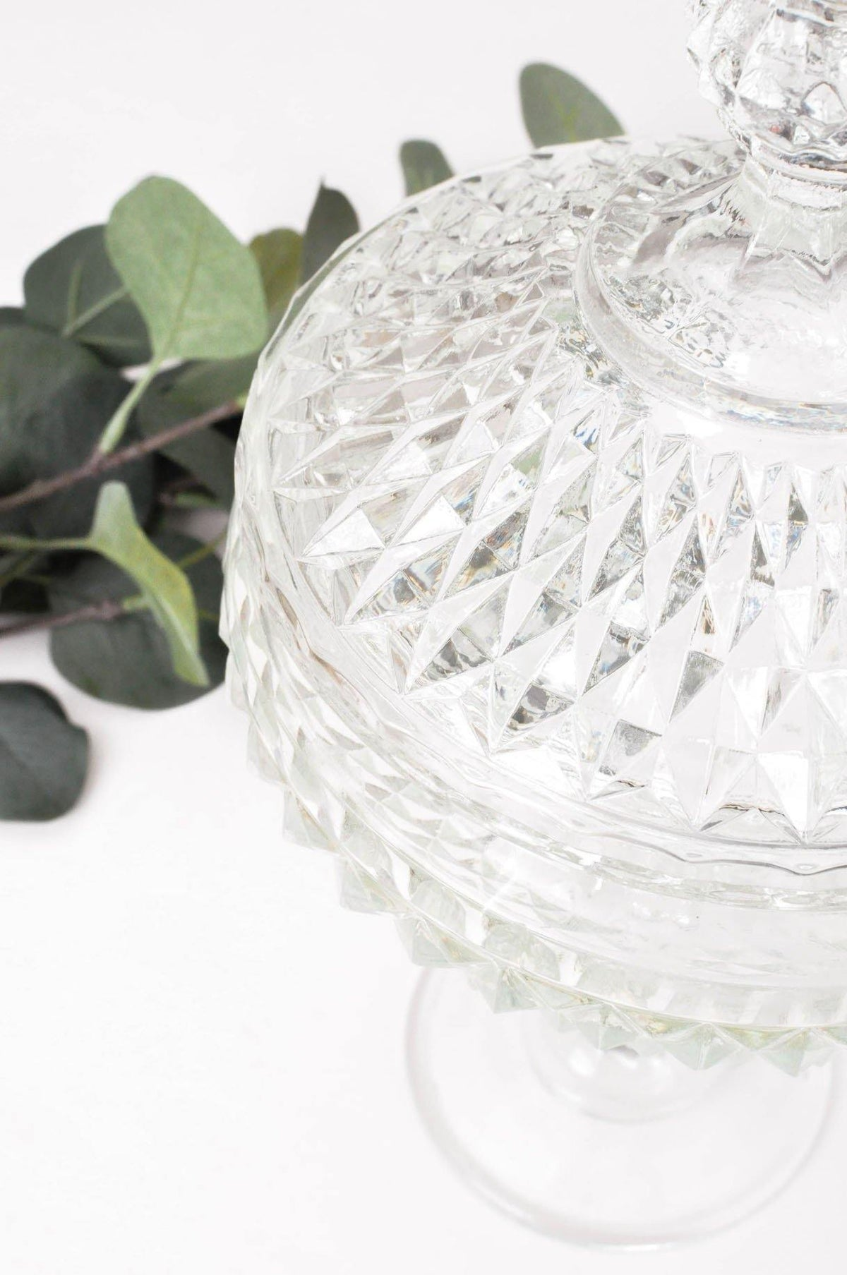 Vintage Tall Glass Candy Jar from Sweet and Spark