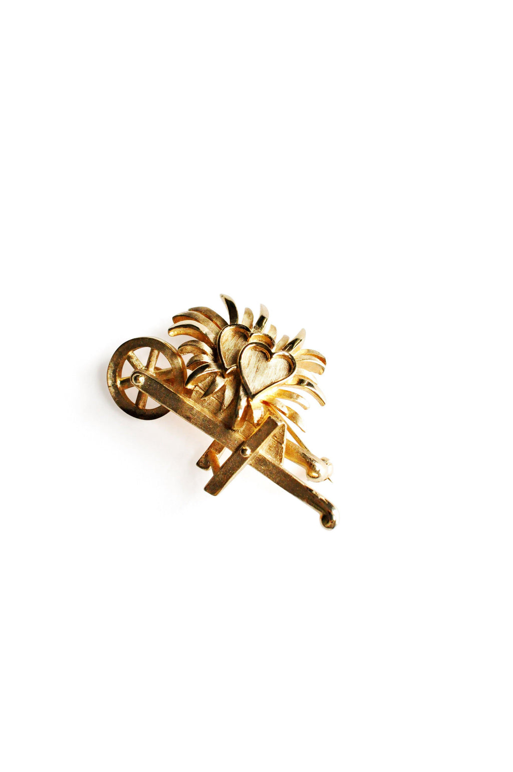 Trifari Gold Hearts Brooch