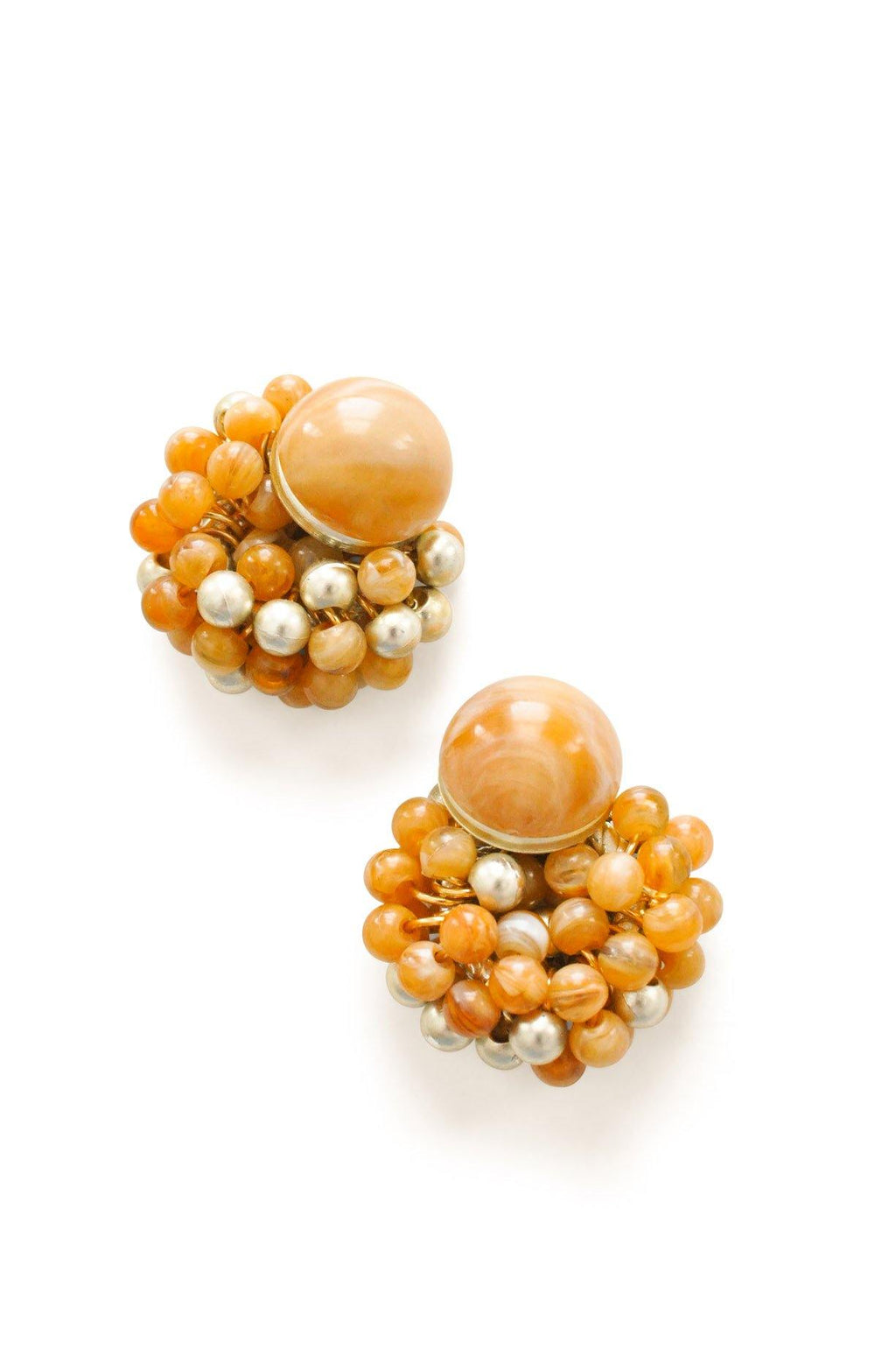 Marble beaded Clip-on Earrings