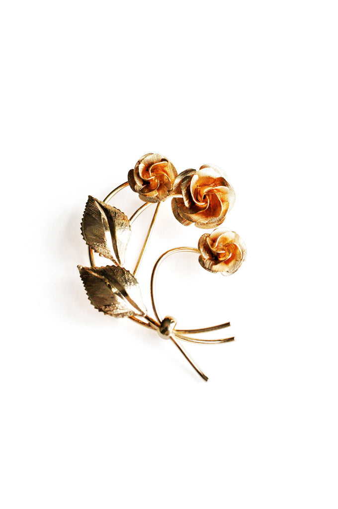Rose Wrapped Brooch