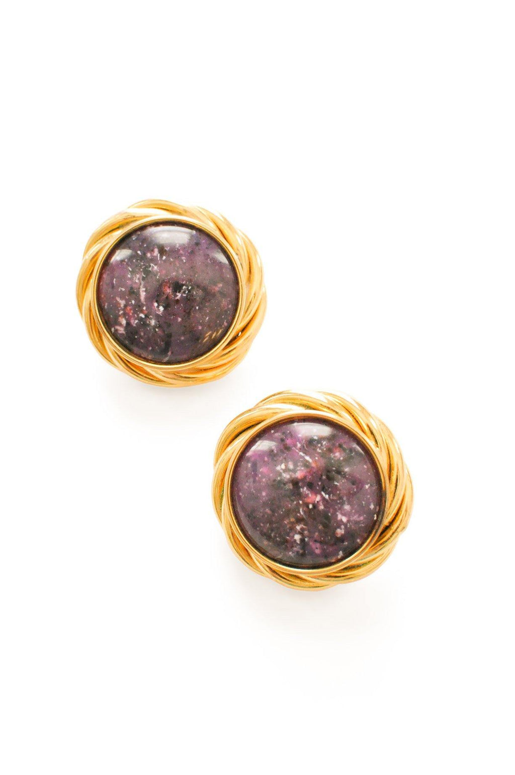 Purple Statement Clip-on Earrings