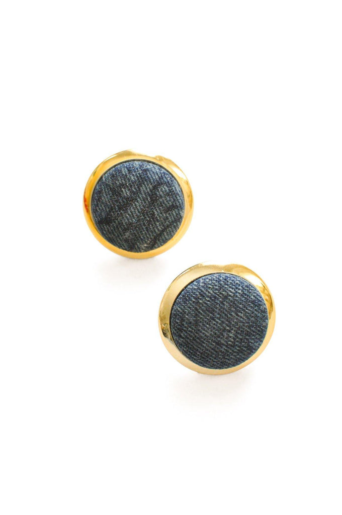 Denim Pierced Earrings