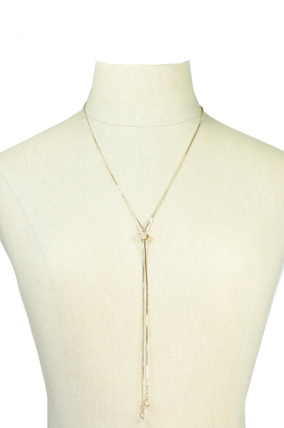 70's__Emmons__Dainty Lariat Necklace