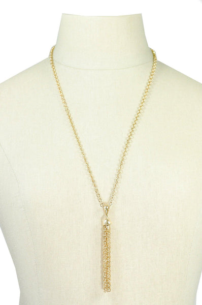 70's__Sarah Coventry__Tassel Chain Necklace
