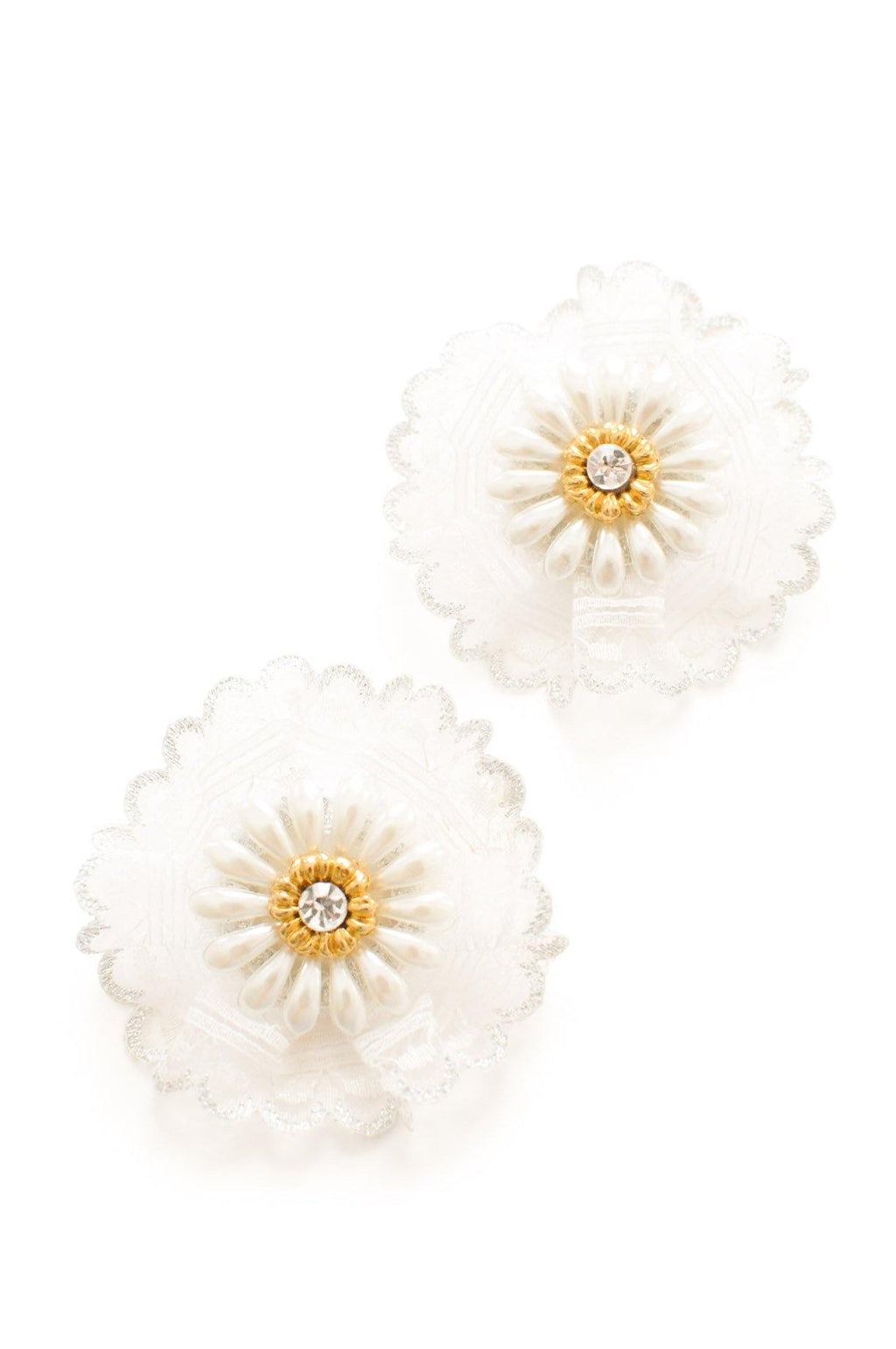 Lace Statement Clip-on Earrings