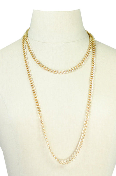 60's__Vintage__Gold Chain Layering Necklace