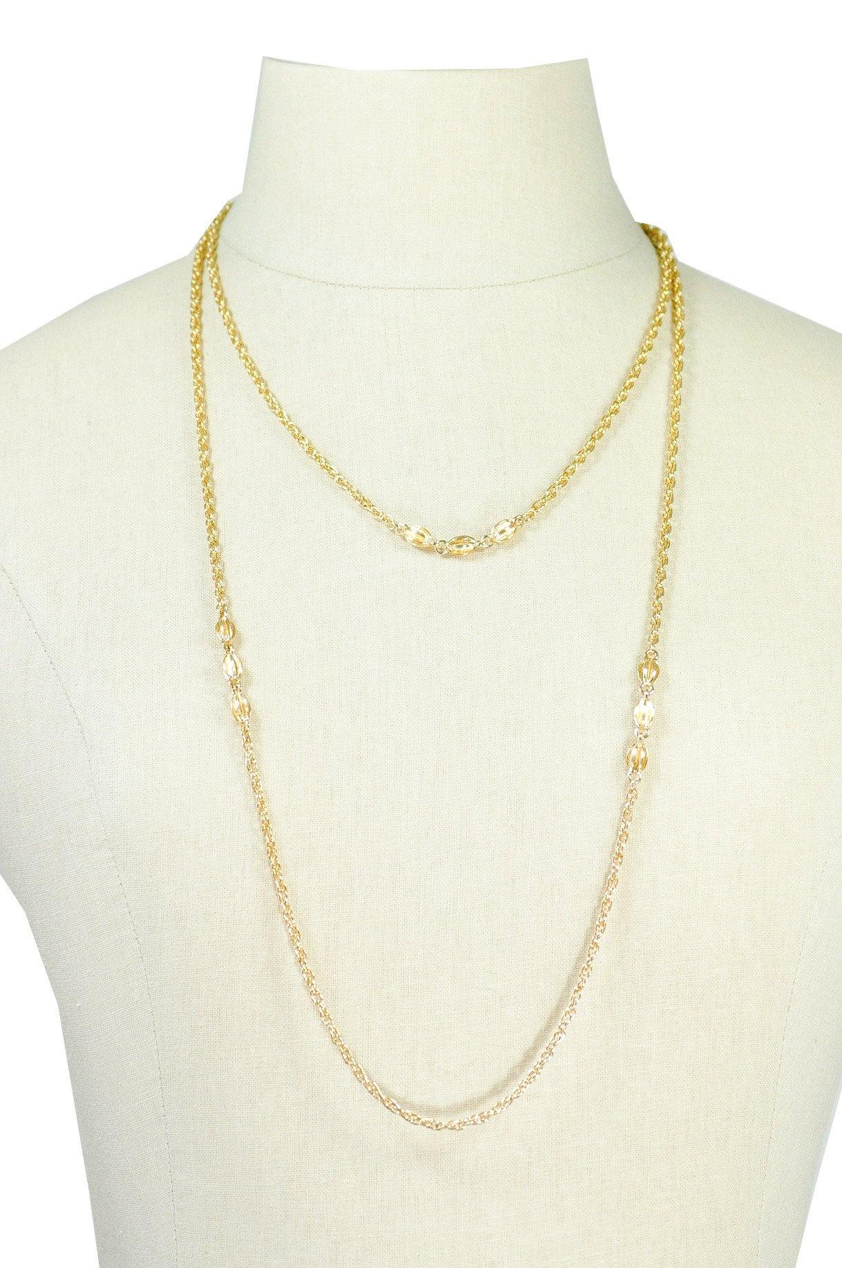 80's__Monet__Gold Layering Necklace