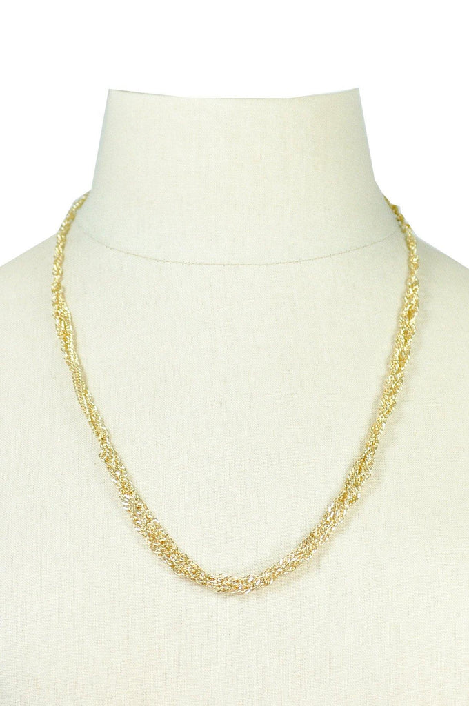 80's__Trifari__Gold Multi-Chain Necklace