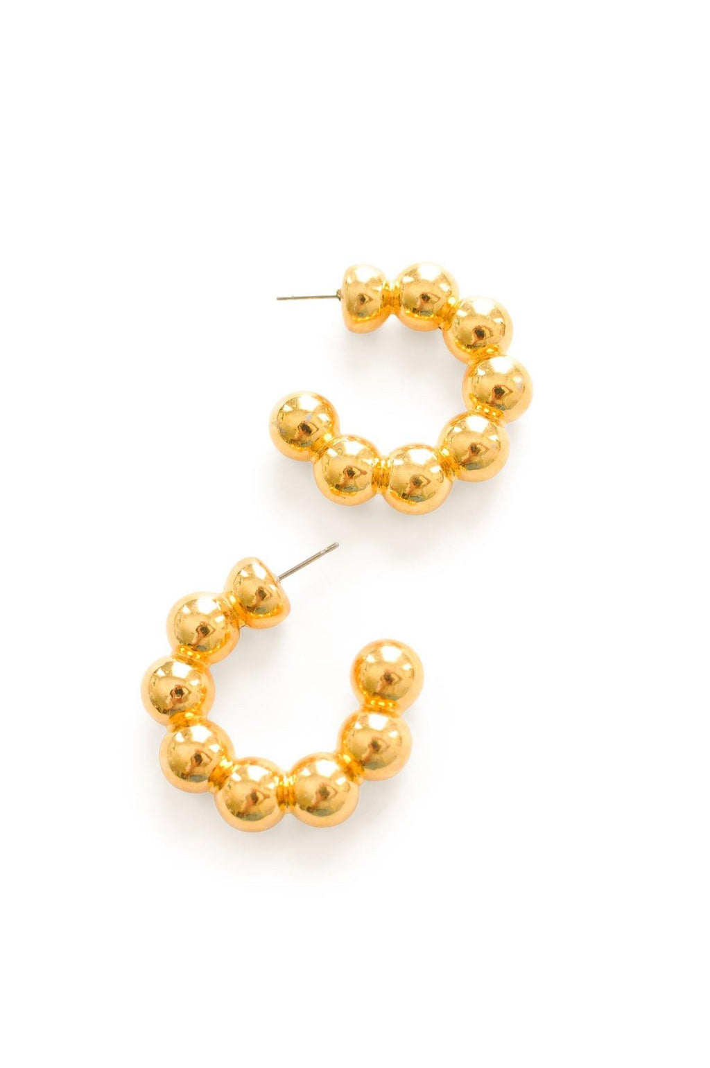 Ball Hoop Pierced Earrings