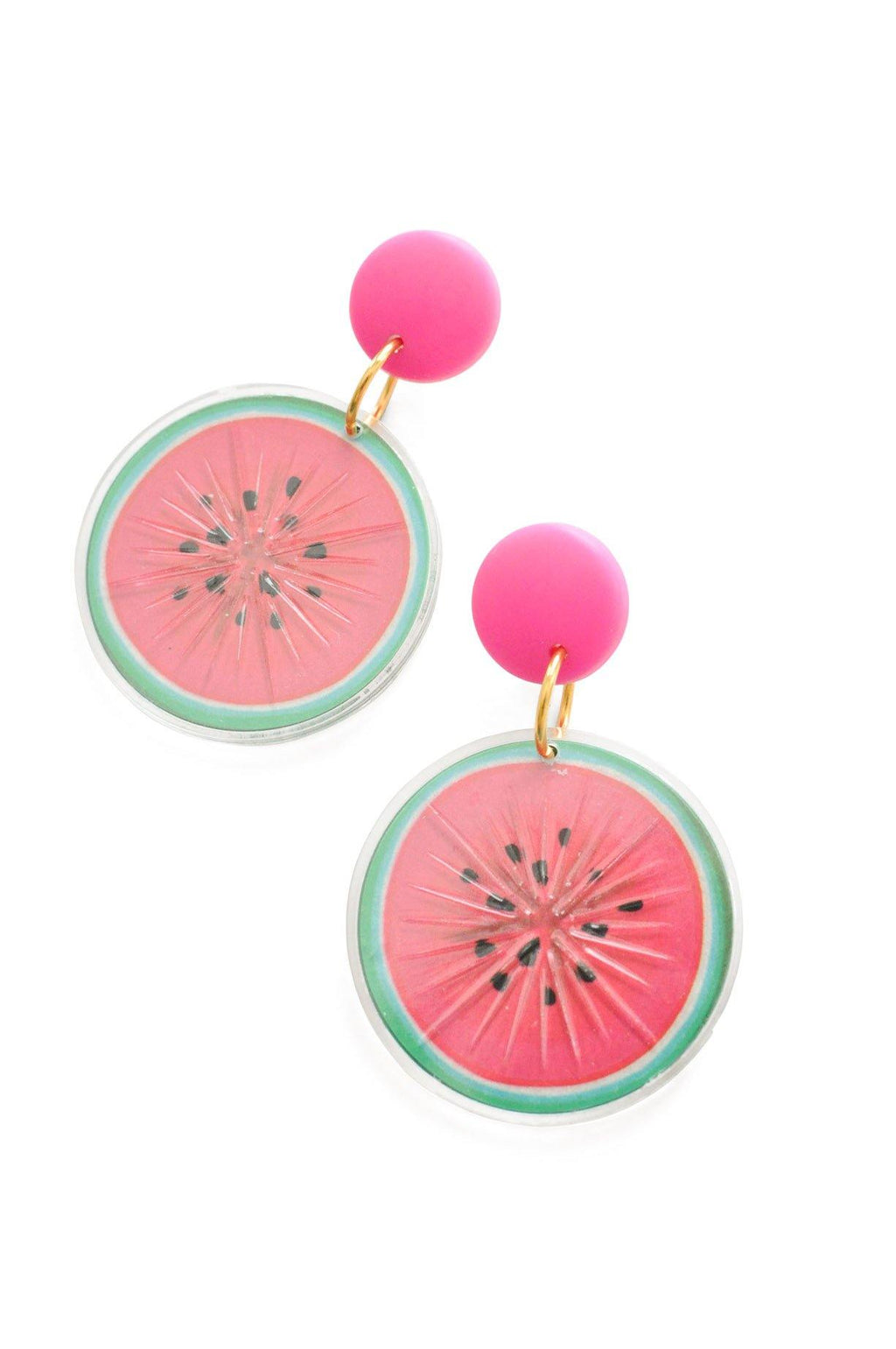 Watermelon Statement Pierced Earrings