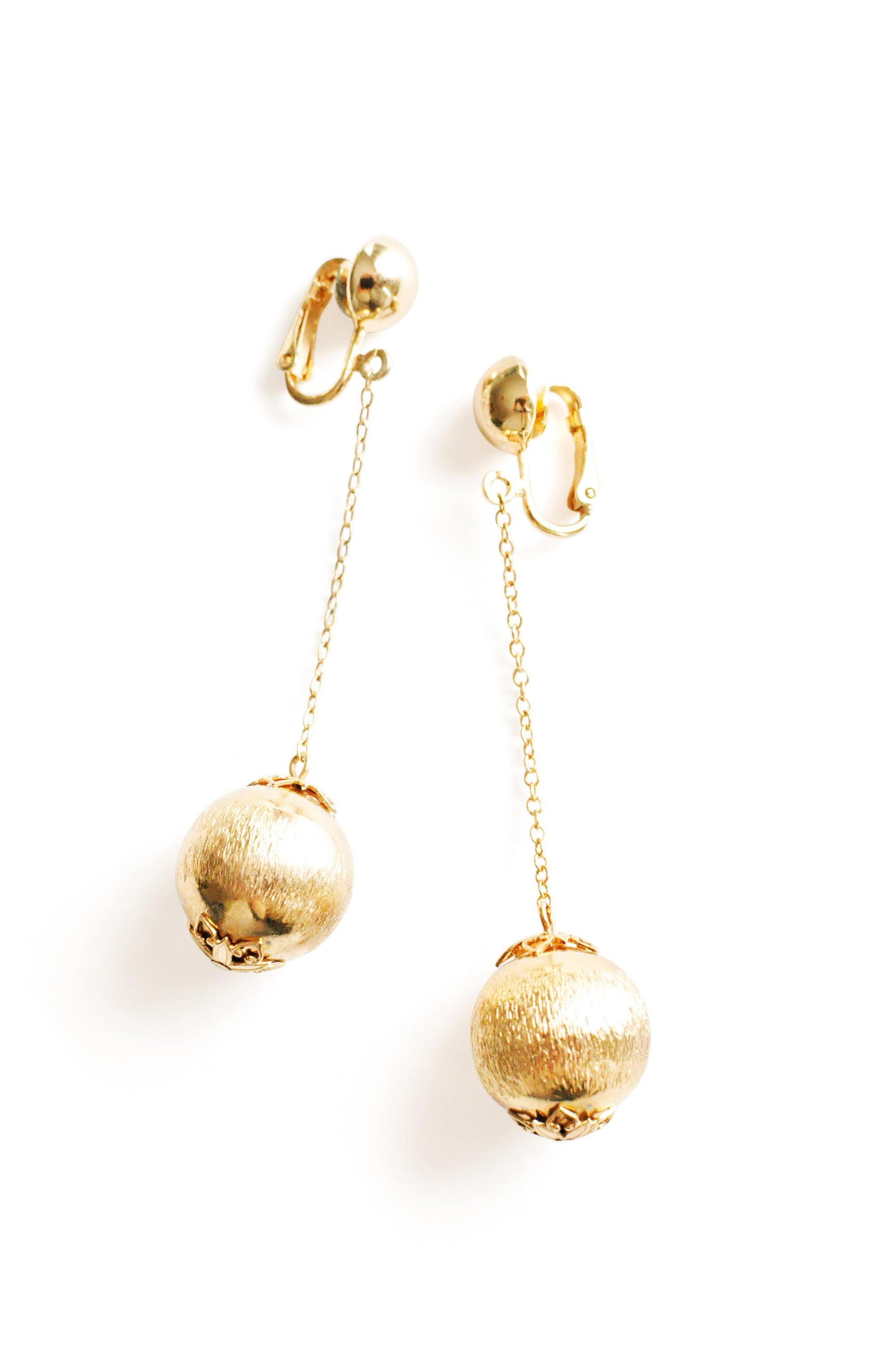 Ball Drop Clip-On Earrings From Sweet & Spark