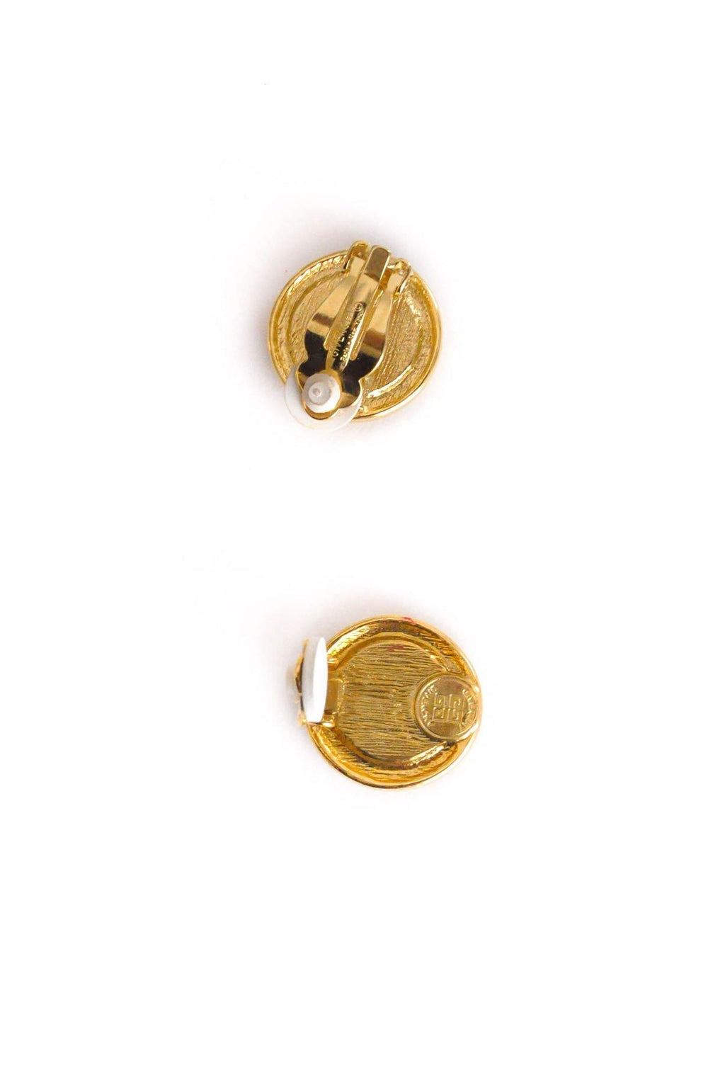 Givenchy Enamel Coin Clip-on Earrings