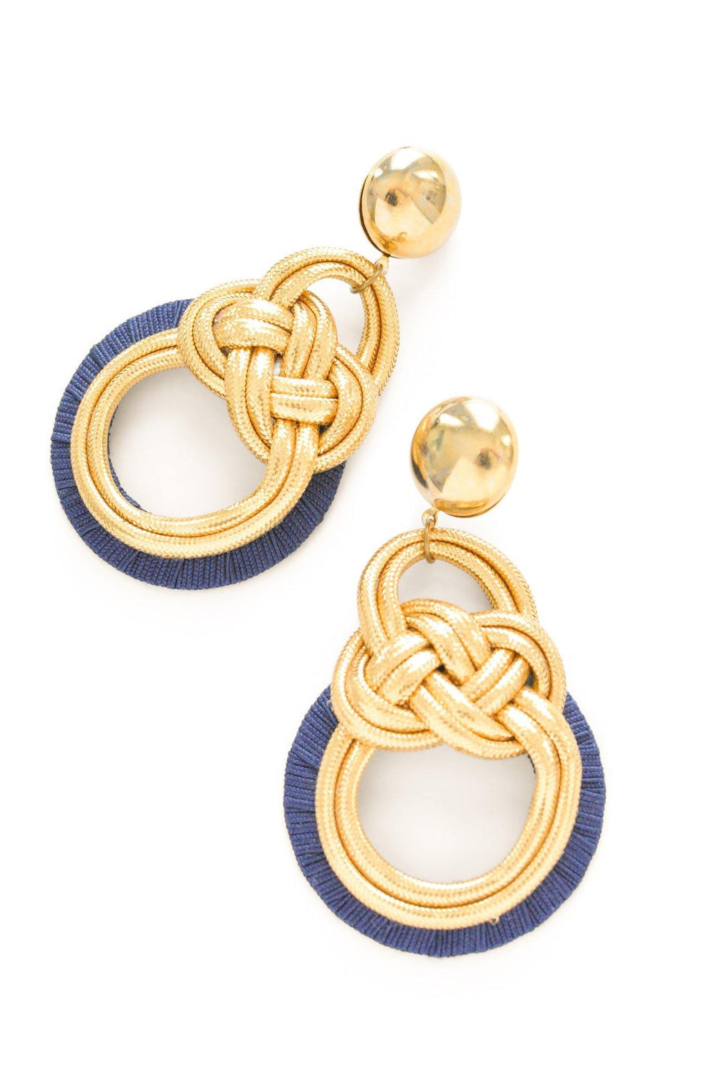 Statement Rope Pierced Earrings