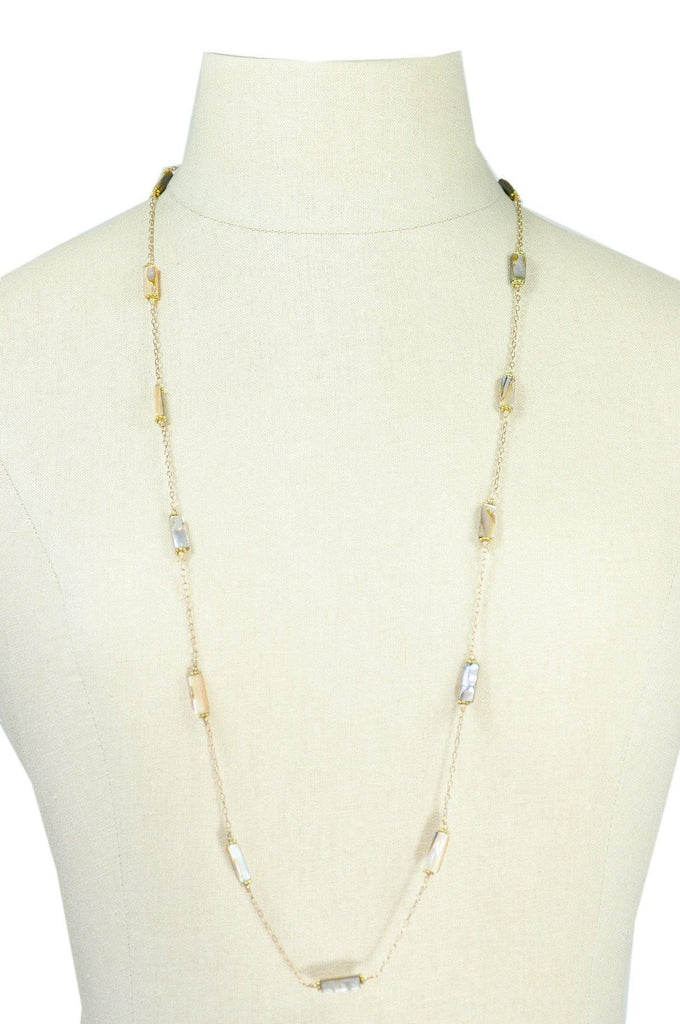 50's__Vintage__Abalone Layering Necklace
