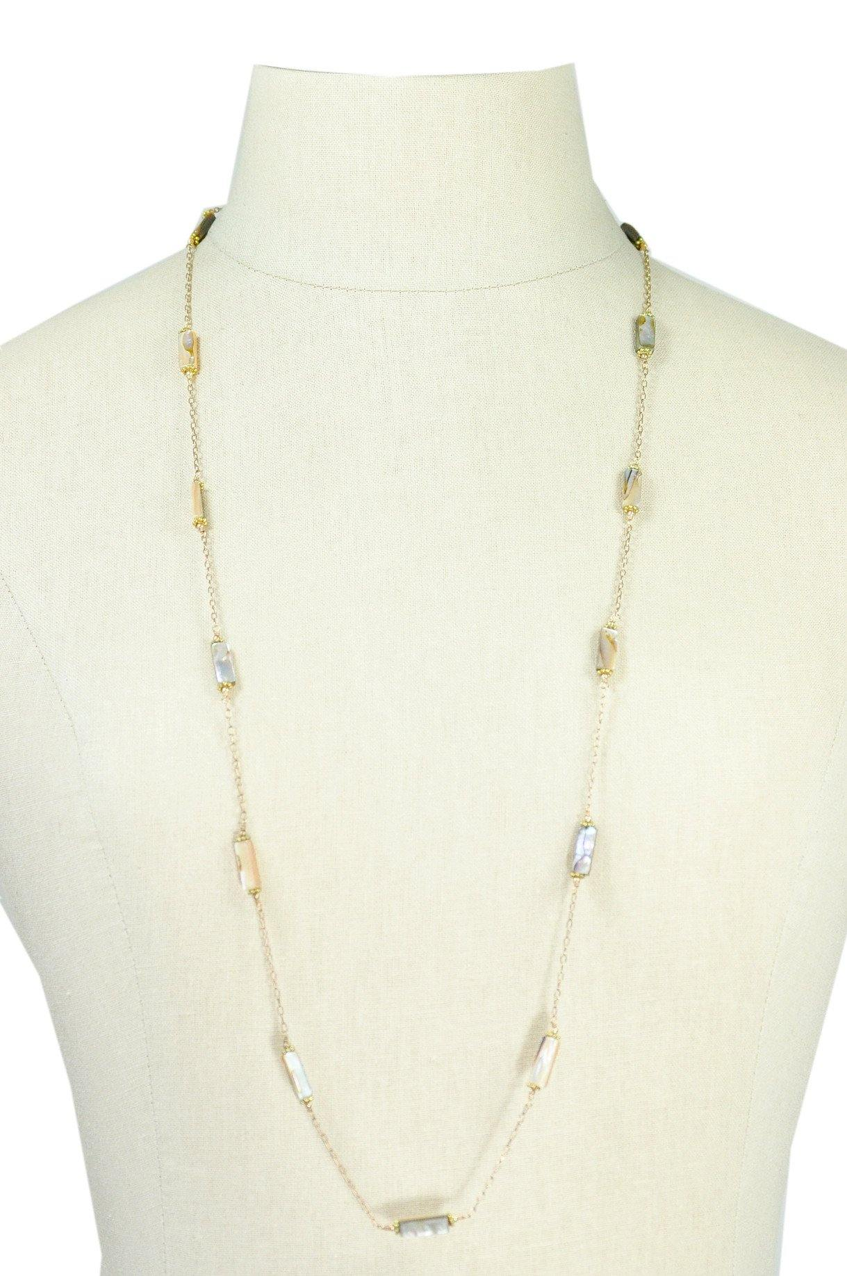 50'S Vintage Abalone Layering Necklace
