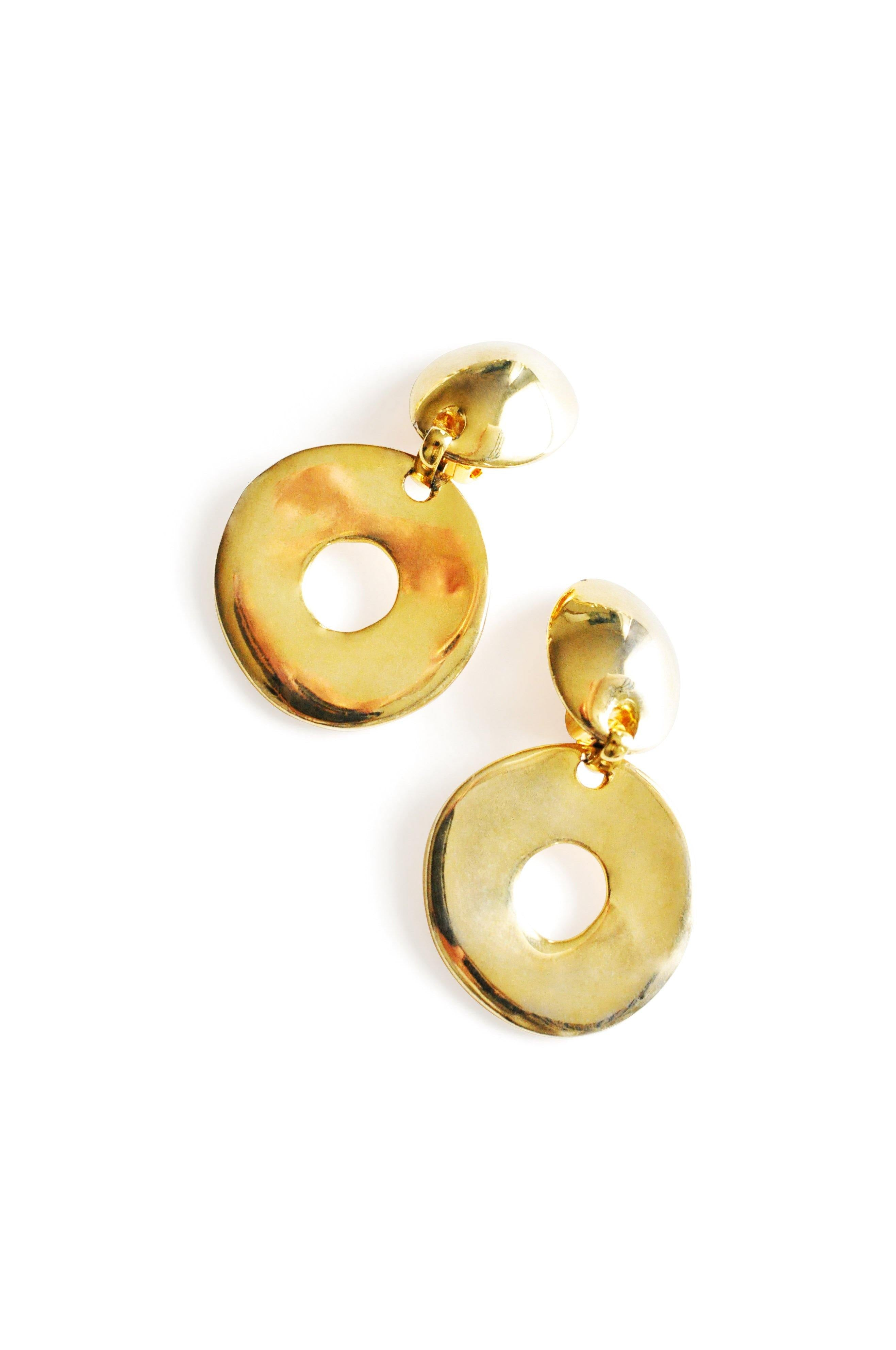 Bold Circle Clip-on Earrings
