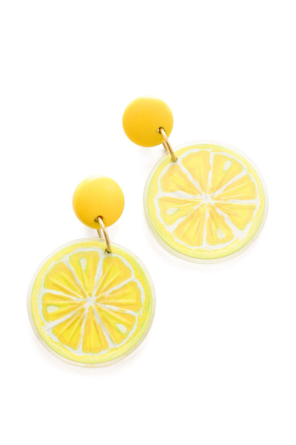 Lemon Statement Pierced Earrings