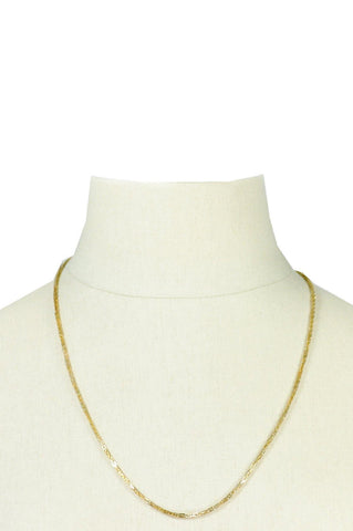 70's__Monet__Gold Chain Necklace